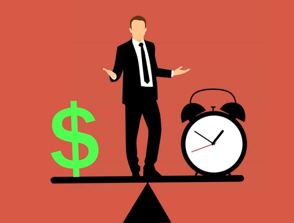 סימן של כסף ושעון